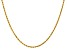 """14k Yellow Gold 2mm Diamond Cut Rope with Lobster Clasp Chain 16"""""""