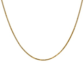 14k Yellow Gold 1.3mm Box Chain 16