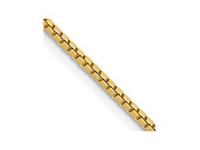 14k Yellow Gold 1.3mm Box Chain 18
