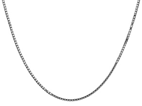 14k White Gold 1.35mm Box Chain 20""