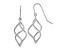 14k White Gold Polished Short Twisted Dangle Earrings