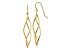 14k Yellow Gold Polished Long Twisted Dangle Earrings