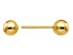 14k Yellow Gold Polished 4mm Ball Post Earrings