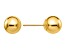 14k Yellow Gold Polished 7mm Ball Post Earrings