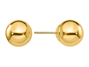 14k Yellow Gold Polished 10mm Ball Post Earrings