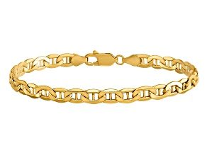 14k Yellow Gold 4.75mm Semi-Solid Anchor Chain. Available in sizes 7 or 8 inches.
