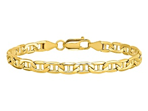 14k Yellow Gold 5.5mm Semi-Solid Mariner Chain