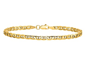 14k Yellow Gold 3.20mm Semi-Solid Mariner Chain 7 inch