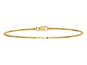 14k Yellow Gold 1.1mm Box Chain. Available in sizes 7 or 8 inches.