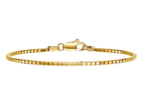 14k Yellow Gold 1.9mm Box Chain 7 inches