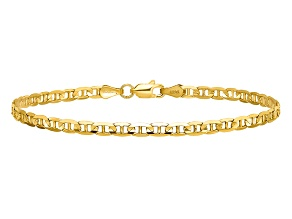 14k Yellow Gold 3mm Concave Anchor Chain. Available in sizes 7 or 8 inches.