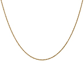 14k Yellow Gold 0.8mm Light-Baby Rope Chain 20
