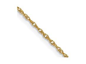 14k Yellow Gold 0.8mm Light-Baby Rope Chain 24