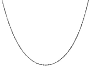 14k White Gold 0.8mm Polished Light Baby Rope Chain 24