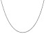 """14k White Gold 0.8mm Polished Light Baby Rope Chain 24"""""""