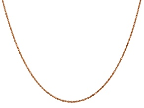 14k Rose Gold 0.8mm Light-Baby Rope Chain 24""