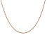 """14k Rose Gold 0.8mm Light-Baby Rope Chain 24"""""""
