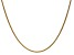 14k Yellow Gold 1.65mm Solid Polished Wheat Chain 16