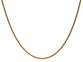 14k Yellow Gold 1.65mm Solid Polished Wheat Chain 18