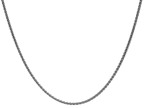 14k White Gold 1.65mm Solid Polished Wheat Chain 24