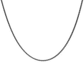 14k White Gold 1.65mm Solid Polished Wheat Chain 24""