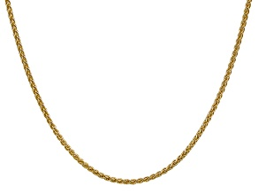 14k Yellow Gold 2.00mm Wheat Chain 16
