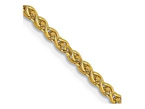 "14k Yellow Gold 2.00mm Wheat Chain 20"""