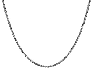"""Picture of 14k White Gold 2mm Solid Polished Wheat Chain 30"""""""