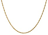 14k Yellow Gold 1.4mm Polished Singapore Chain 16""