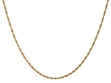 """Picture of 14k Yellow Gold 1.4mm Polished Singapore Chain 20"""""""