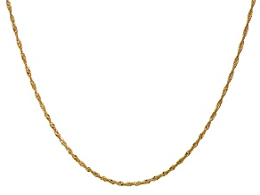 14k Yellow Gold 1.4mm Polished Singapore Chain 20
