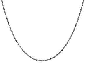 14k White Gold 1.4mm Singapore Chain 30