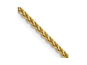 14k Yellow Gold 1.4mm Diamond Cut Wheat Chain 16
