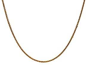 14k Yellow Gold 1.4mm Diamond Cut Wheat Chain 18