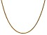 14k Yellow Gold 1.4mm Diamond Cut Wheat Chain 20