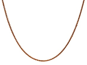 14k Rose Gold 1.40mm Wheat Chain 20