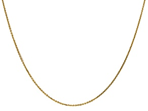 14k Yellow Gold 0.95mm Diamond Cut Cable Chain 16 Inches