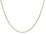 14k Yellow Gold 0.95mm Diamond Cut Cable Chain 18 Inches