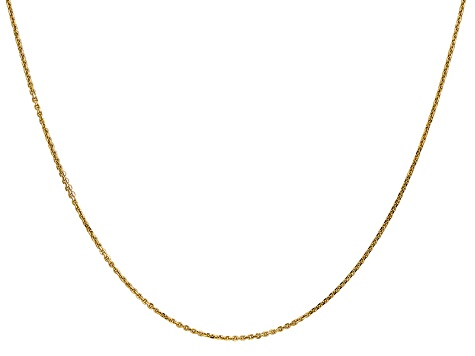 14kt White Gold Diamond Cut Cable Chain Necklace 1.50mm