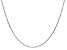 14k White Gold 0.95mm Solid Diamond Cut Cable Chain 24 Inches