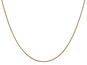 14k Yellow Gold Diamond Cut 0.65mm Wheat Pendant Chain 24 Inches