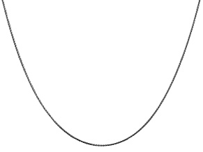 14k White Gold 0.65mm Diamond Cut Wheat Pendant Chain 18 Inches