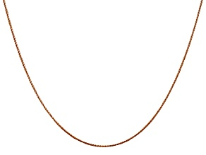 14k Diamond Cut Rose Gold 0.65mm Wheat Chain 20 Inches