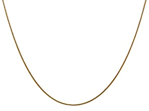 14k Yellow Gold 0.80mm Round Snake Chain 16 Inches