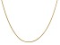 14k Yellow Gold 0.90mm Round Snake Chain 16 Inches