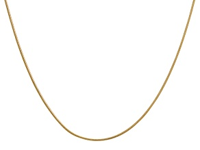 14k Yellow Gold 0.90mm Round Snake Chain 24 Inches