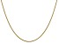 14k Yellow Gold 1.1mm Round Snake Chain 18 Inches
