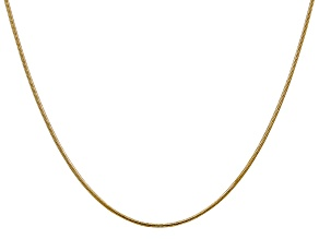 14k Yellow Gold 1.1mm Round Snake Chain 20 Inches