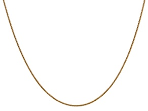 14k Yellow Gold 1.4mm Round Snake Chain 24 Inches