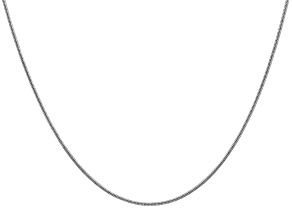 14k White Gold 1.4mm Round Snake Chain 24 Inches
